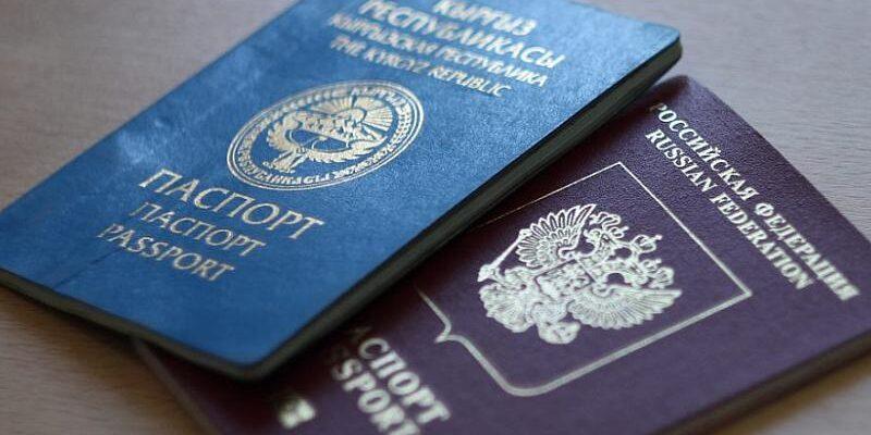 на фото паспорта человека с двойным гражданством