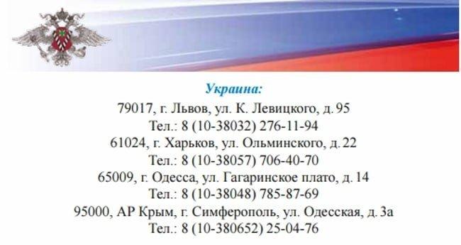 Представительства РФ