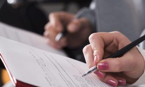 Заполнение бланка документа
