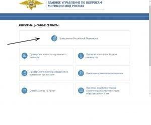 Проверка готовности гражданства РФ на сайте МВД РФ
