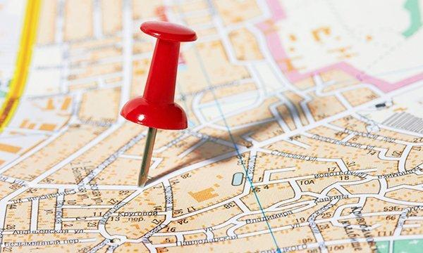 Определение местоположения оказания услуг