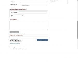 Заполнение формы для обращения на сайте ГУВМ МВД РФ